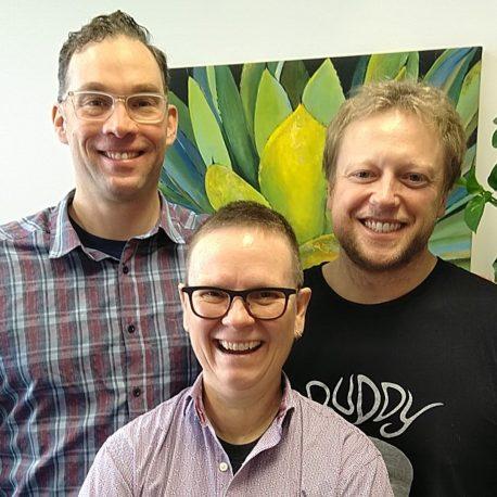 Dr. Jay Scherer, Dr. Judy Davidson, & Rylan Kafara